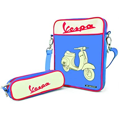 Amazon.com: Vespa vpsd12 – Bolsa para Ipad, color azul: Clothing