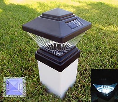 Matte Black Color Square Solar Light Post Cap PVC Fence Style