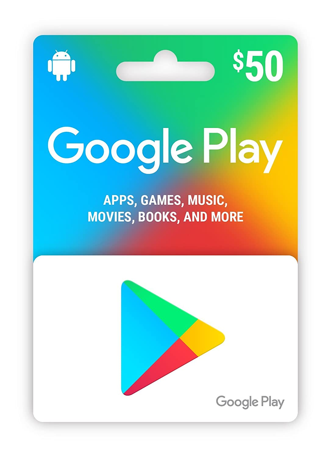 Amazon.com: Google play $50 Gift card for Android: Tarjetas ...