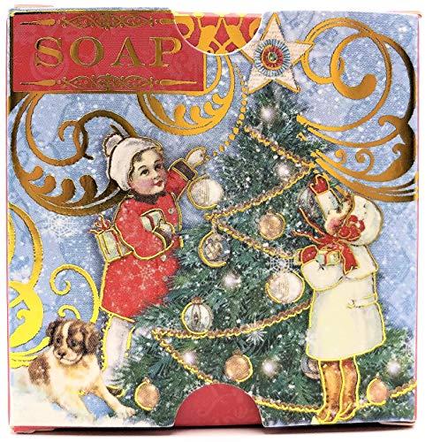 Punch Studio Christmas Orange & Clove Triple Milled Vegetable Soap 3.5 ounces