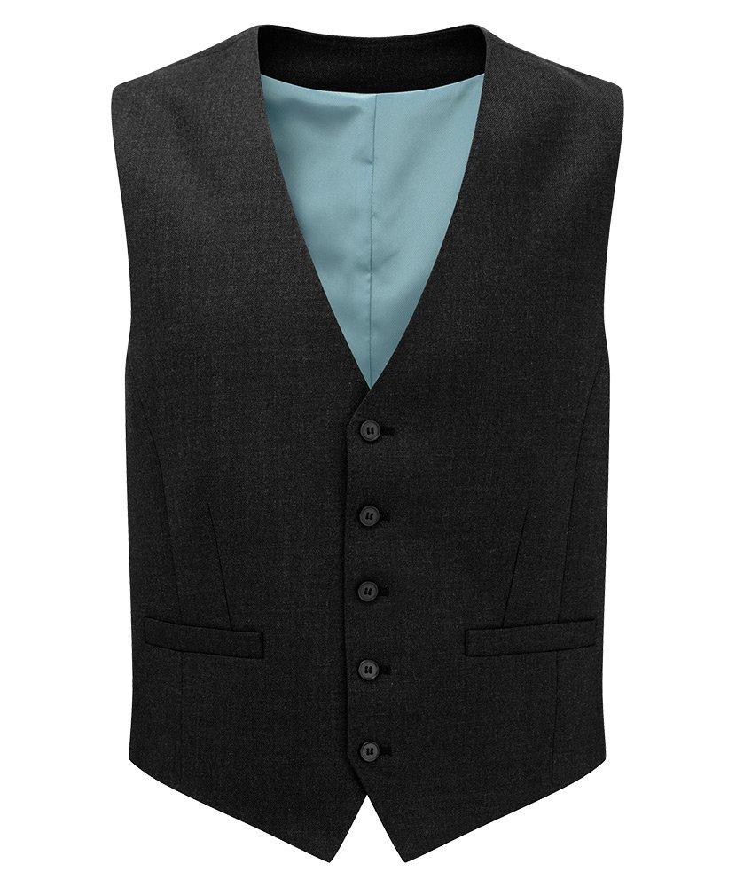 Alexandra Assured STC-NM602BK-42 Mens Waistcoat 55/% Polyester//45/% Wool Plain Size: 42 Black