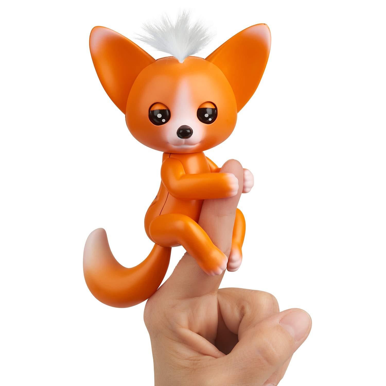 B07BNZ855P WowWee Fingerlings - Interactive Baby Fox - Mikey (Orange) 61OdLHHJ0PL