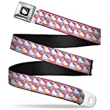Best Buckle Down Little Girl Movies - Buckle-Down Seatbelt Belt - Hello Kitty Blocks Pink/Orange/Blue Review