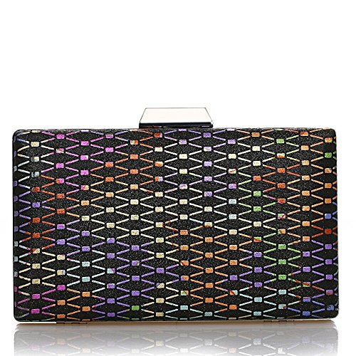 Purse Party Formal Women Sparkly clutches Evening Dance Prom Handbag Black Wedding for Glitter bags 4CxqH