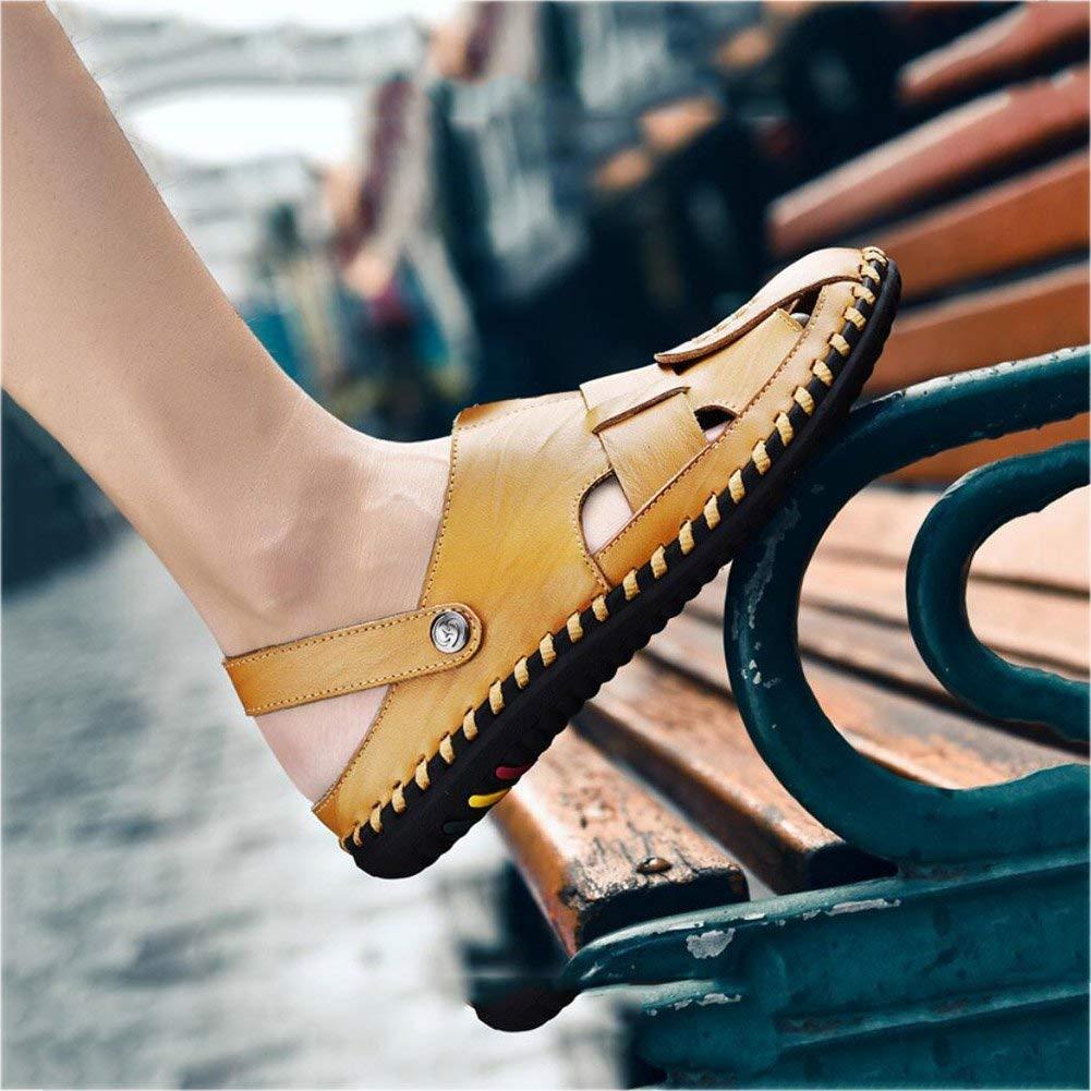 FuweiEncore Sport Outdoor Sandalen Herren Leder Leder Leder Fischer Breathable Sommer Casual Verstellbaren Riemen Schuhe Walking Beach Travel Beach Schuhe (Farbe   B, Größe   44) (Farbe   B, Größe   39) 4b659e
