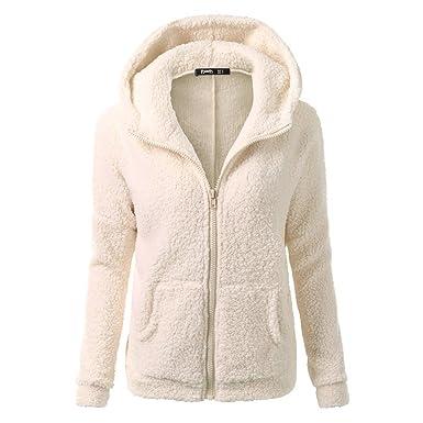 Kootk Women s Warm Hoodies Sweatshirt Baggy Fluffy Zipper Hooded Coat  Outwear Jacket Jumper Hoody Ladies Jumpers 36e07a8e9