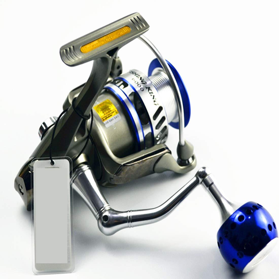 フルメタル回転釣りリール海水淡水トラウトリール 6000  B07QHGJG4S