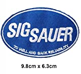 Sig Sauer to Hell and Back black Motorsport Ralley Car Motorbike Logo Vest Jacket cap Hoodie Backpack Patch Iron On/sew on patch
