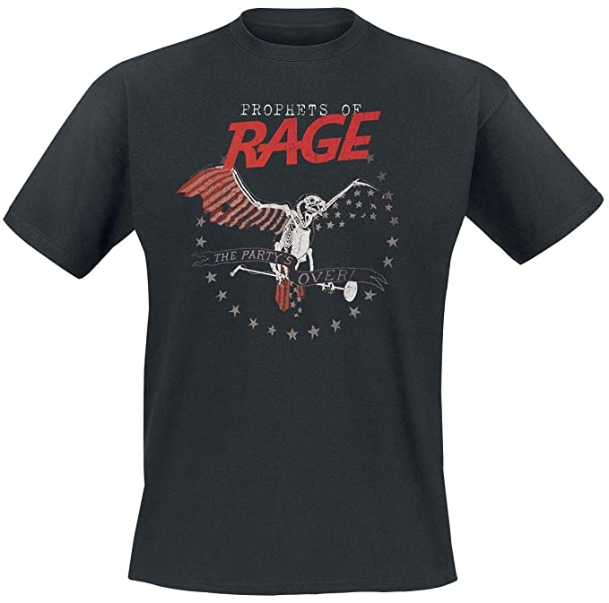 Prophets Of Rage The Party Is Over Camiseta Negro XL: Amazon.es: Ropa y accesorios