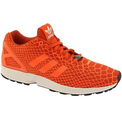 54e44eca46ee0 ... shop adidas zx flux techfit mens shoes collegiate orange solar orange  ftw white s75489 ac27f a4670