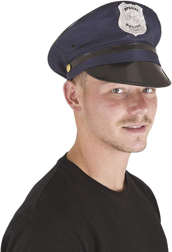 PTIT CLOWN 17460 – Gorra de policía de adulto, talla ajustable – Color azul: Amazon.es: Juguetes y juegos