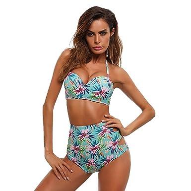 Maillots de Bain Rembourré 2 Pièce Bikini Set Triangle Imprimé Swimwear Femmes Vert L Réduction Manchester Braderie Chaud Acheter Pas Cher 2018 Nouveau sMybRY