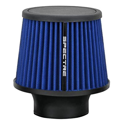 Spectre Universal Clamp-On Air Filter: High Performance, Washable Filter: Round Tapered; 3 in (76 mm) Flange ID; 6.5 in (165 mm) Height; 6 in (152 mm) Base; 4.75 in (121 mm) Top, SPE-9136: Automotive