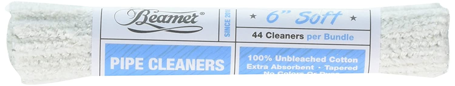 No Colors Or Dyes Beamer 24 Inch Unbleached Soft Pipe Cleaners 6 Bundles Bendable Reusable Beamer Smoke Collectible Sticker 100/% Cotton 150 Pieces Extra Absorbent