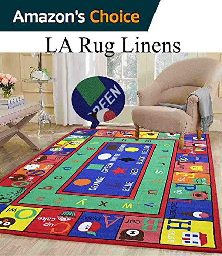 5x7 Kids Boys Children Toddler Playroom Rug Nursery Room Rug Bedroom Rug Fun Colorful ( ABC - Near Location Buy Current Best