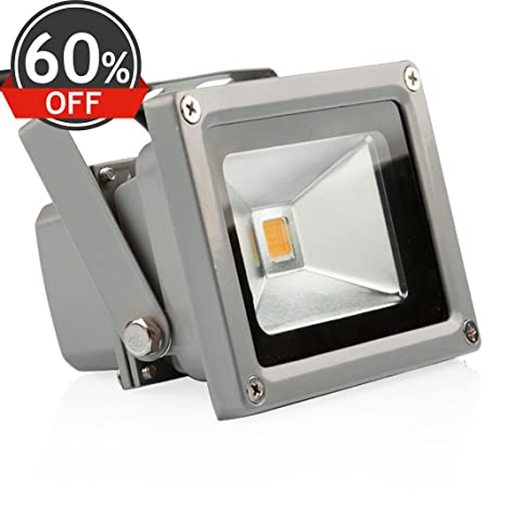 LEDMO 10W Warm White LED Flood Light Outdoor Floodlight Spotlight AC85 265  IP65 Lamps,