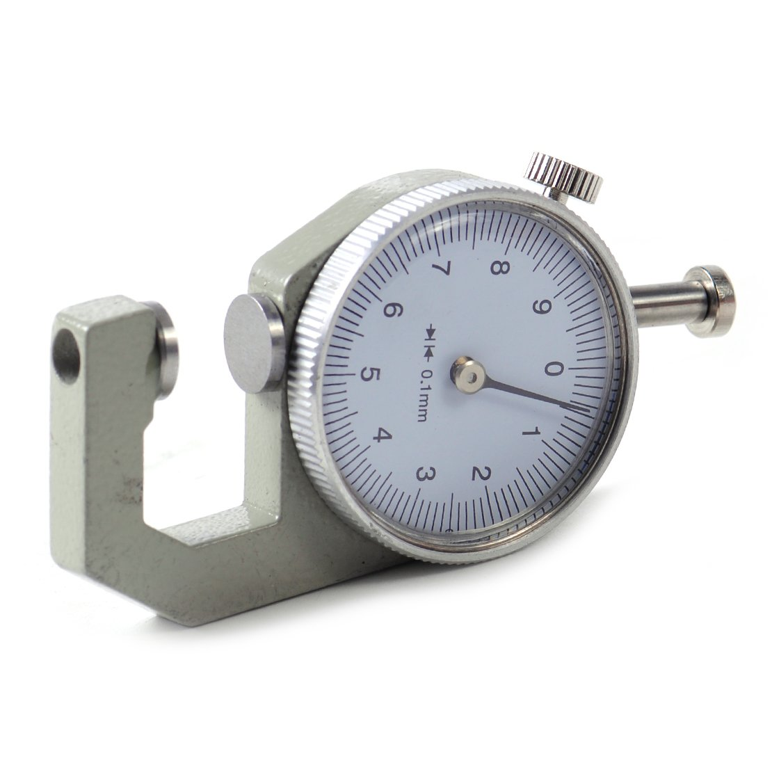 0-10mm Thickness Round Dial Gauge Gage Tester Measure Tool Leather Craft Pocket eastar