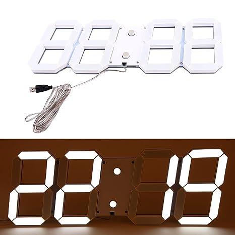 Reloj LED, pantalla LED reloj digital reloj de visualización de la temperatura de la pared