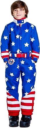 USA Stars and Stripes Patriotic Snowsuit for Kids Tipsy Elves Childrens American Flag Ski Suit