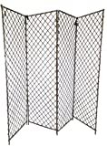 Master Garden Products 4-Panel Willow Screen Divider, 96 by 72-Inch