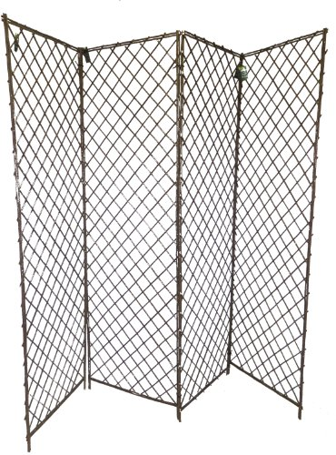 Master Garden Products 4-Panel Willow Screen Divider, 96 by 72-Inch by Master Garden Products