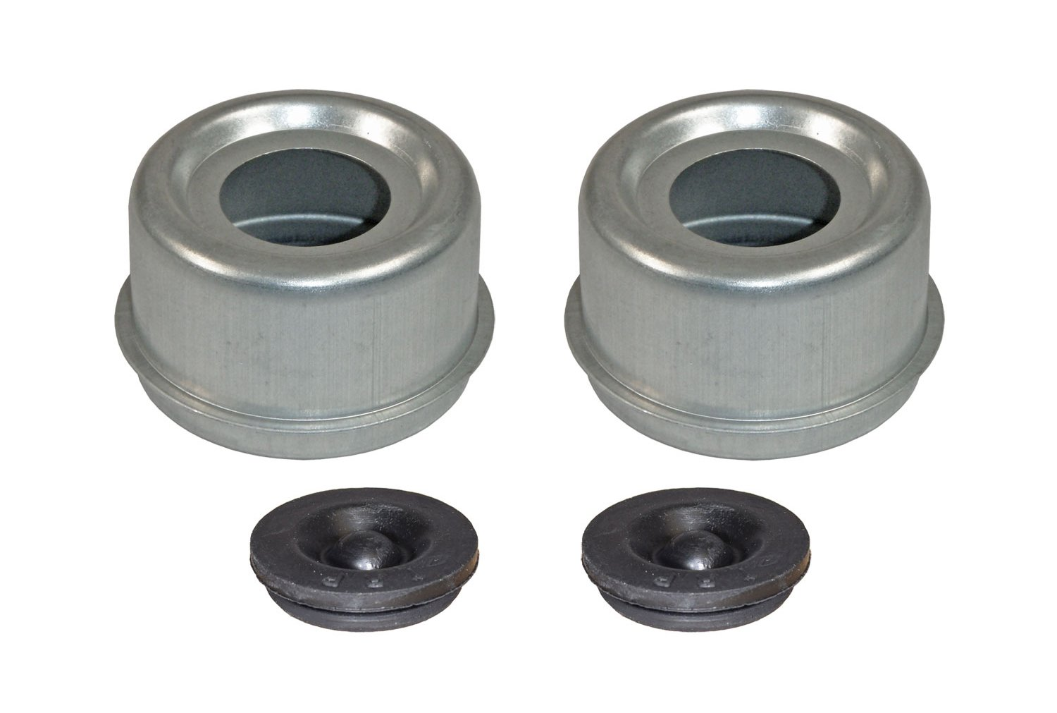 E-Z Lube Grease Caps With Rubber Plugs - Pair (EZ2-PR)