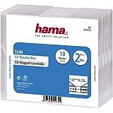 Hama 51274 Boîtier slim pour 2 CD Lot de 10 Transparent