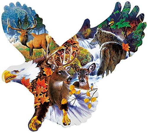 Forest Eagle Shaped 1000 Piece Jigsaw Puzzle by SunsOut