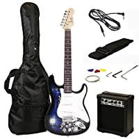 Jaxville Reaper ST Style Electric Guitar Pack with Amp, Gig Bag, Strings, Strap, Lead and Plecs