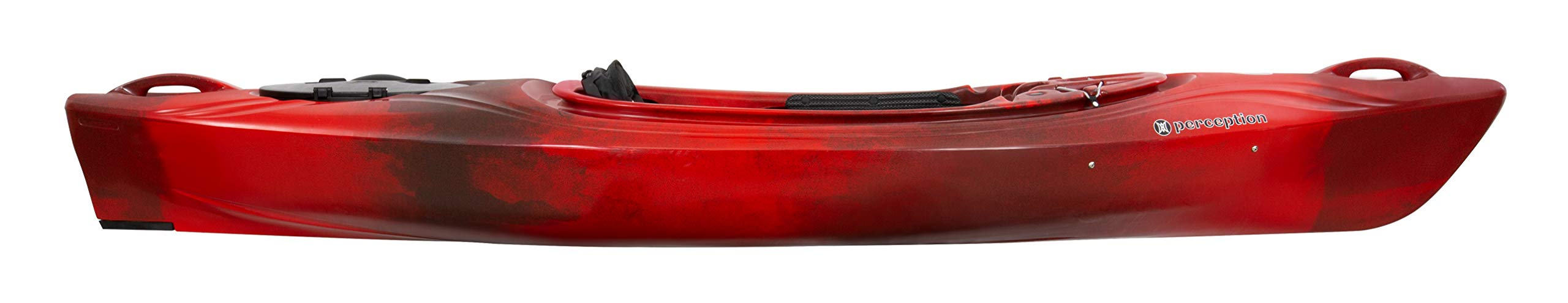 Perception Joyride 10 | Sit Inside Kayak for Adults and Kids | Recreational and Multi-Water Kayak with Selfie Slot | 10' | Red Tiger by Perception Kayaks