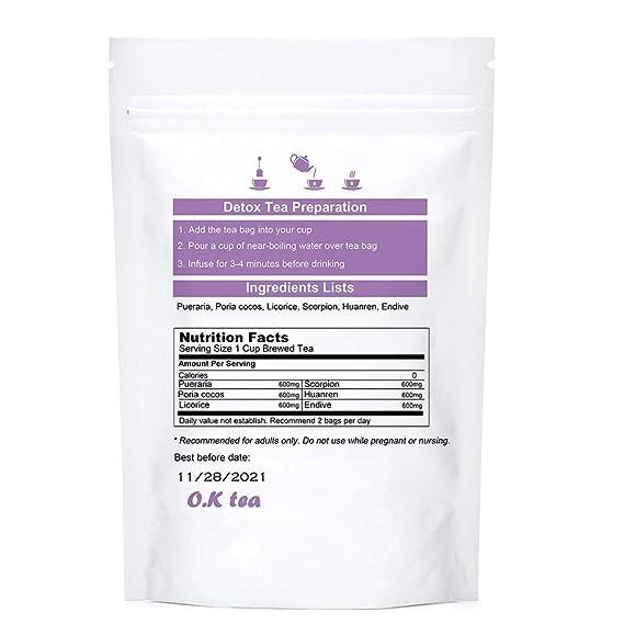 Amazon.com : Natural Detox Tea, O.K Tea 14 Day Herbal Body Detox Cleanse  Skinny Tea : Grocery & Gourmet Food