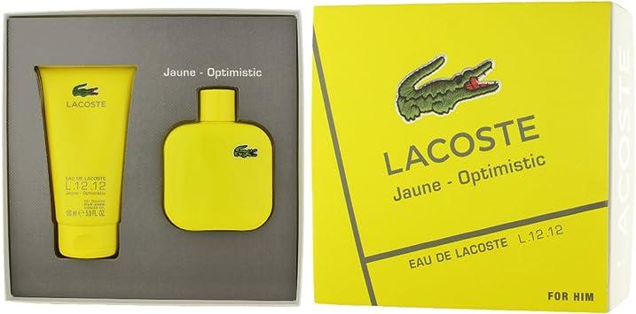LACOSTE SET L12.12 JAUNE Eau De Toilette100 + S/G 150: Amazon.es: Belleza