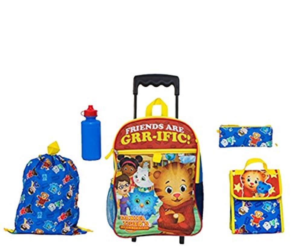 The Fred Rogers会社Daniel Tiger Rollingバックパック5個ボーナス   B07DWLR84B