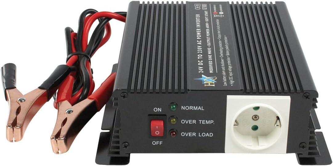 HQ HQ-INV600W/24F - Inversor (600 W, 24 V - 230 V): Amazon ...