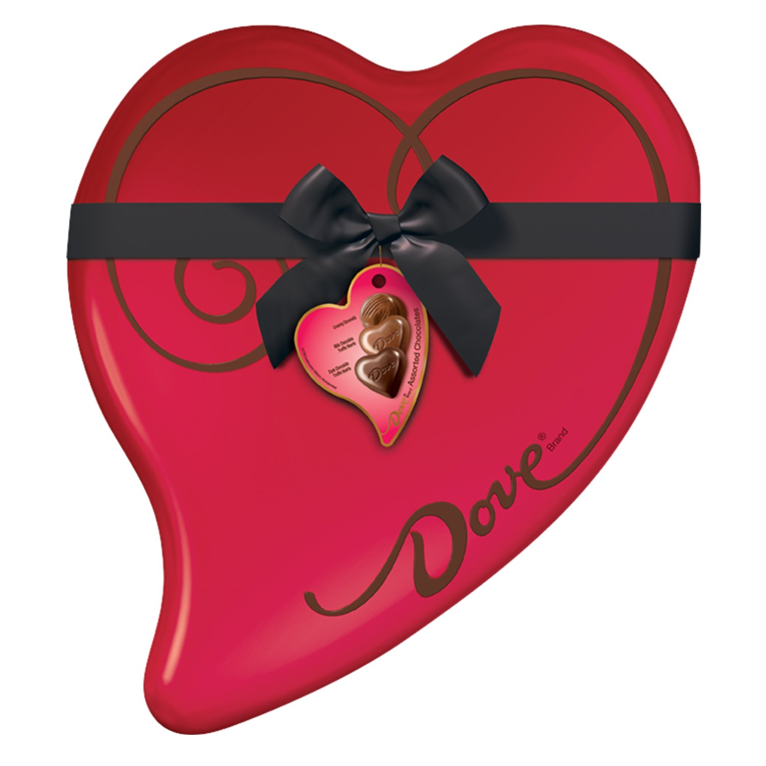 DOVE Extra Large Valentineu0027s Assorted Chocolate Candy Heart Gift Box  14 Ounce 40  Piece