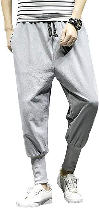 Crystallly Pantalones De Haren Chandal Pantalones De Sueltos Pantalones Anchos De Estilo Simple Los Hombres Pantalones De Chandal De Entrenamiento Pantalones De Chandal Pantalones De Deporte Con Cordo Amazon Es Ropa Y Accesorios
