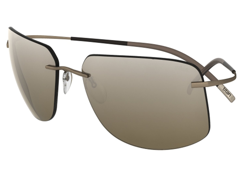 Silhouette Sunglasses Titan Minimal ART The Icon 8698 medium to large fit (light smokey brown / earth gradient lenses)
