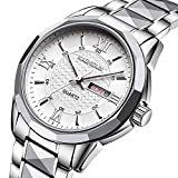 Mens tungsten steel watches/Luminescent quartz watches fashion/Business casual watches-B