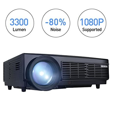 Proyector, Proyector Full HD LED proyector Video 1080P 3300 lumens ...