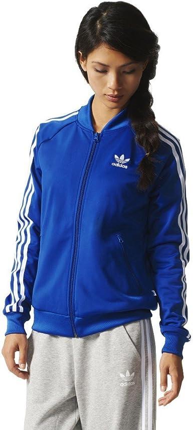 Esquivo Remisión Desenmarañar  Adidas Chaqueta Deportiva Para Mujer Azul, L (46): Amazon.es: Ropa y  accesorios