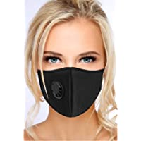 N95 N99 Particulate Respirator Mask - Anti Air Pollution Mask with Exhalation Valve - Washable and Reusable Face Protection - Resist Dust, Smoke, Pollution for Men Women - Black