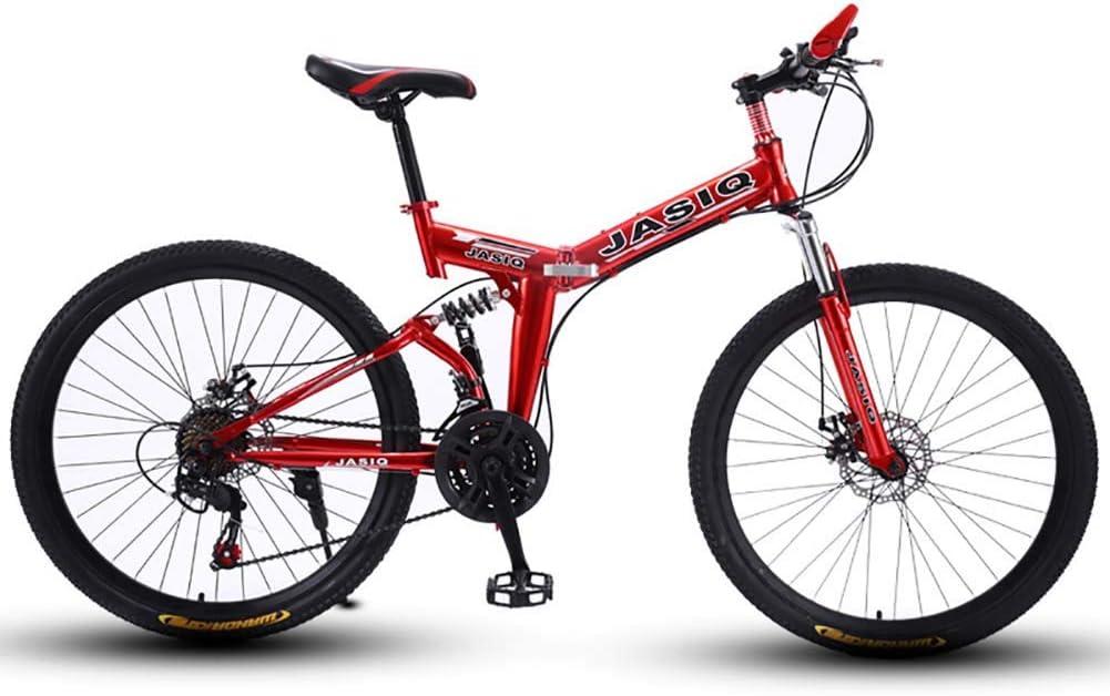 F-JWZS Unisexo Doble Suspensión Bicicleta de Montaña, 21 ...