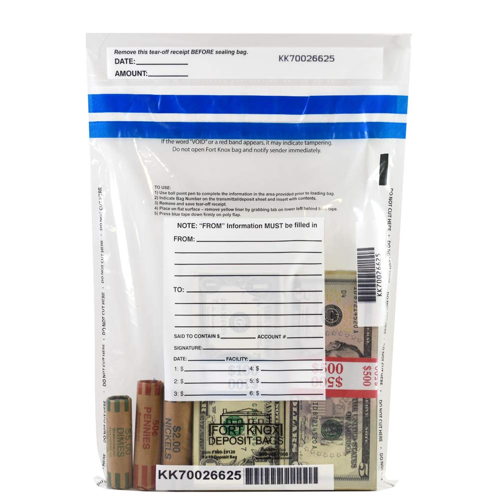 Clear Deposit Bags - 9 x 12 - Case of 500 Bags by BankSupplies