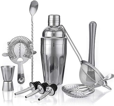 Skymore Coctelera Kit, cocktail Kit, Cocktail Shaker, Accesorios de Cóctel de Acero Inoxidable: Amazon.es: Hogar