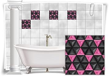 Medianlux Fliesenaufkleber Fliesenbild Fliesen Aufkleber Mosaik Pink