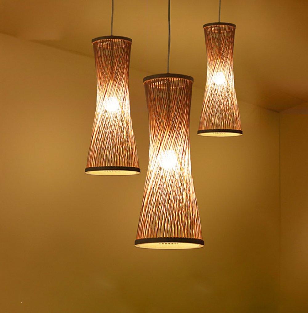 HAIXANG Simple Chandelier Nordic Restaurant Lights Led Bamboo Art Rattan Weaving Pendant LampsHAIXIANG