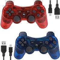 Controladores para PS3 Playstation 3 Dual Shock, controle de jogo joystick remoto Bluetooth sem fio para seis eixos com…