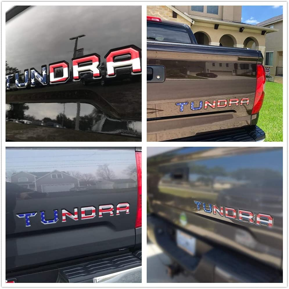 Tailgate Insert Letters for Toyota Tundra 2014 2015 2016 2017 2018 2019 2020 3D Raised /& Strong Adhesive Decals Letters Tailgate Emblems Inserts Letters American Flag
