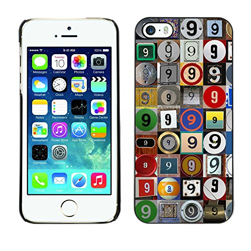 Premio Sottile Slim Cassa Custodia Case Cover Shell // F00021441 Photomosaic du 9 // Apple iPhone 5 5S 5G