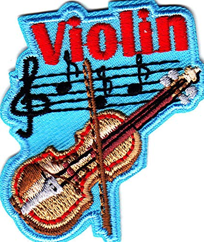 """""""VIOLIN"""" - Iron On Embroidered Patch - Rock N"""